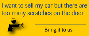 I want to sell my car but there are too many scratches on the door | Bring it to us